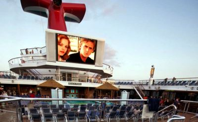 Carnival Sunshine poolside movies